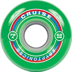 Buy Kryptonic Cruise 62mm 78A Skateboard Wheels, Green by Kryptonic