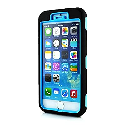 """iPhone 6 Case, OMIU(TM) [Silicone/Plastic] Zebra Pattern Hybrid Shock-Absorption Bumper Slim Hard Back Shell Case Cover Protector Fit For Apple iPhone 6 (4.7"""" Screen)(Blue), Sent Screen Protector+Stylus+Cleaning Cloth from OMIU"""