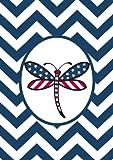 Toland Home Garden 119509 Patriotic Dragonfly Garden Flag, Blue