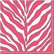 Design Design Serengeti Pink & White, Beverage Napkin, 20-Count (Single pack of 20)