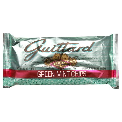 Guittard Green Mint Chips, 12-Ounce (Pack of 6)
