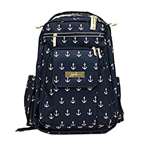 Ju-Ju-Be Nautical Legacy Collection Be Right Back Backpack Diaper Bag, The Admiral