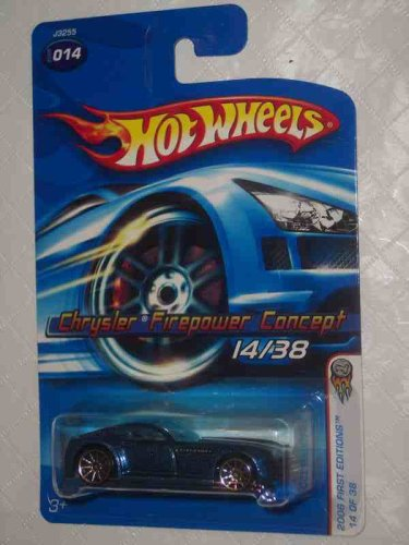 2006 First Editions -#14 Chrysler Firepower Concept Dark Blue #2006-14 Collectible Collector Car Mattel Hot Wheels - 1
