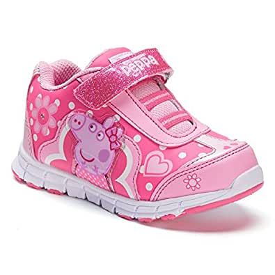 Amazon.com: Toddler Girl's Peppa Pig Light up Sneakers - Pink: Shoes