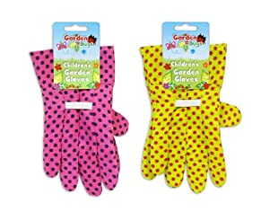 Garden bugs children 39 s kids gardening gloves for Gardening gloves amazon