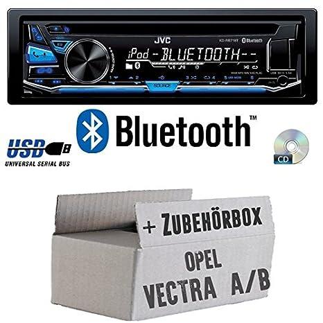 Opel Vectra A+B - JVC KD-R871BT - Bluetooth CD/MP3/USB Autoradio - Einbauset