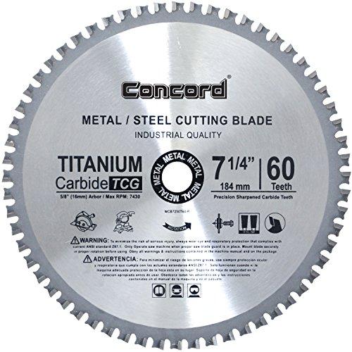 Concord Blades MCB0725T060HP 7-1/4-Inch 60 Teeth TCT Ferrous Metal Cutting Blade