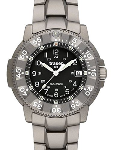 Traser Commander 100 Force Military Titanium Watch, Sapphire Crystal 100308