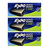 Expo Dry Erase Whiteboard Board Eraser Soft Pile, Pack of 3 (81505)