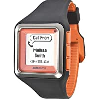 MetaWatch STRATA - Tangerine Smartwatch (MW3002) for iPhone and Android by Meta