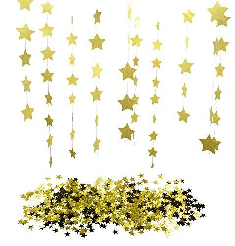 kaluc-26ft-8-mts-sparkling-gold-star-garland-bunting-and-1oz-metallic-golden-star-confetti