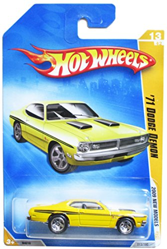 HOT WHEELS 2009 NEW MODELS 13/42 '71 DODGE DEMON YELLOW WITH BLACK STRIPES 013/190