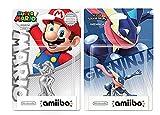 Silver Mario Amiibo and Greninja Amiibo Combo Set