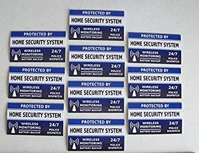 Satisfying Trendy Home Security System Stickers Signs Window Decals 10pcs