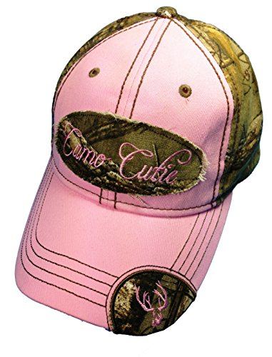 Woman's Realtree Camo Hat with Pink Trim Woman's Camo Ball Cap Plus Free Camo Cutie Coozie