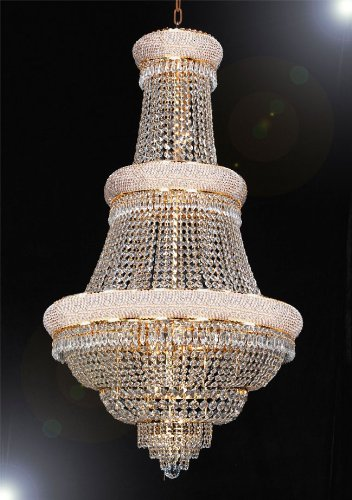 French Empire Crystal Chandelier Lighting H50