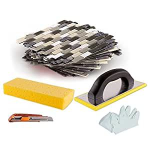 peel stick tiles 15 ft backsplash kit