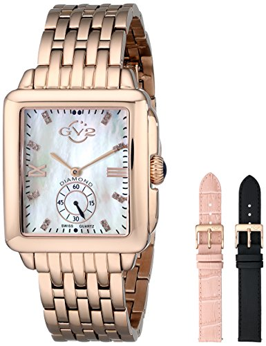 GV2-by-Gevril-Womens-9202-Bari-Diamond-Accented-Rose-Gold-Tone-Watch-with-Interchangeable-Bands