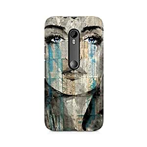 Mobicture Girl Art Premium Designer Mobile Back Case Cover For Moto X Force