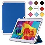 WAWO Samsung Galaxy Tab 4 10.1 Inch Tablet Smart Cover Creative Fold Case - Sly Blue