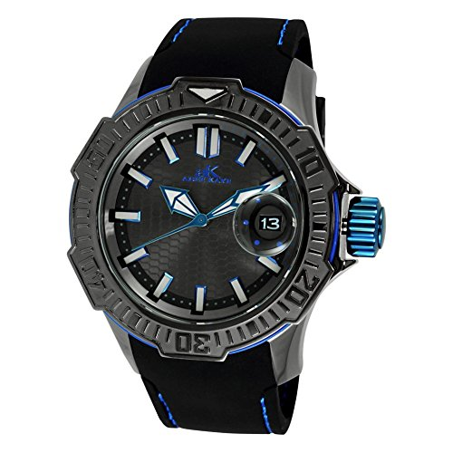 Adee Kaye Grand Mond G2 AK7752-MIPGn 61.1x52.6mm Stainless Steel Case Black Silicone Mineral Men's Watch