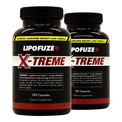 Lipofuze Xtreme 2 Pack - Top Weight Loss Pills for Hardcore Fat Loss - All Natural Diet Supplement - Best Fat Burner for Ultimate Weight Loss