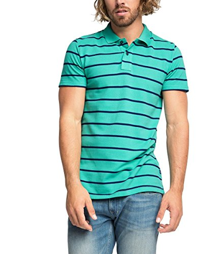 ESPRIT - aus Baumwoll Piqué - Regular Fit,  066EE2K014 Polo Uomo    Grün (AQUA GREEN 380) XX-Large