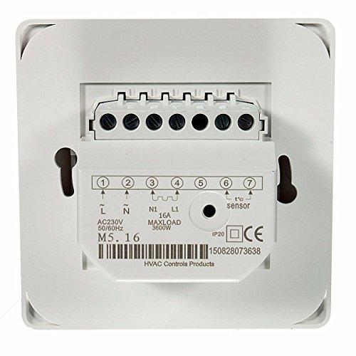 230v manuelle heizung thermostat f r fu bodenheizung elektrisch heizung 16amp zimmer heizen. Black Bedroom Furniture Sets. Home Design Ideas