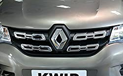 DELHITRADERSS Premium Quality Front Chrome Grill Hammer for Renault Kwid - Set of 4pcs