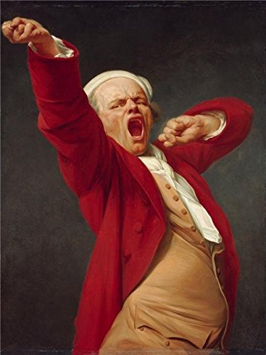 'Self-Portrait, Yawning, Before 1783 By Joseph Ducreux' Oil Painting, 10x13 Inch / 25x34 Cm ,printed On Perfect Effect Canvas ,this Reproductions Art Decorative Canvas Prints Is Perfectly Suitalbe For Basement Decor And Home Decor And Gifts