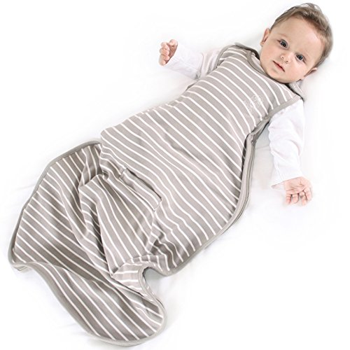 Baby Sleeping Bag from Woolino, 4 Season, Merino Wool Baby Sleep Bag, Silky Soft & Machine Washable, 2 Months - 2 Years, Earth