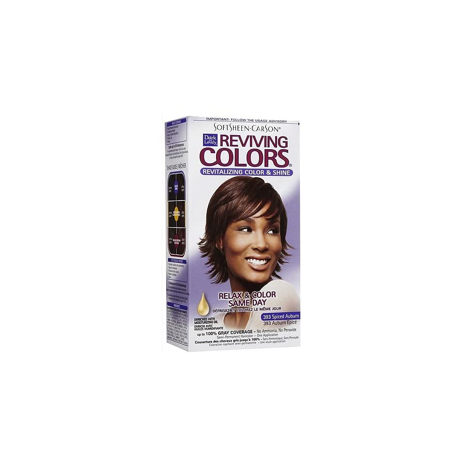 Softsheen Carson Dark and Lovely Reviving Colors Nourishing Color & Shine, Spiced Auburn