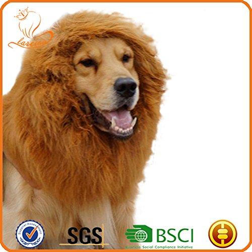 [Uniquorn Large Pet Lion Wigs Mane Hair Scarf Party Fancy Dress Clothes Dog Costume] (Cow Hooves Costume)
