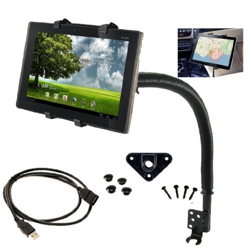"Chargercity Exclusive 18""-Inch Steel Gooseneck 7"" 8"" 9"" 10""Inch Tablet Floor Mount & 10' Feet USB extension Cable Kit for Samsung Galaxy 7.7 10.1 Amazon Kindle Fire PanDigital 7 Coby Kyros Vizio 8 Le Pan II 2 TC Tablet Device at Electronic-Readers.com"