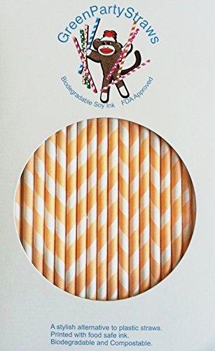 Paper Straws Pack of 144 Peach