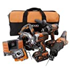 Ridgid 18-volt X4 Hyper Lithium Cordless 5-pieces Combo Kit