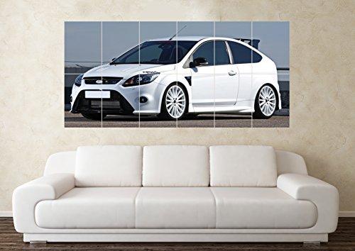grande-ford-focus-rs-bianco-modificati-poster-da-parete-con-immagine-artistica-di-auto-sportive