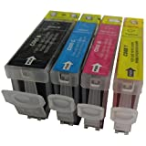 4 CiberDirect Compatible Ink Cartridges for use with Canon Pixma iP3500 Printers.