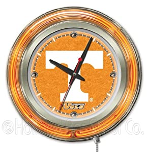 NCAA Tennessee Volunteers Double Neon Ring 15-Inch Diameter Logo Clock by Holland Bar Stool Company