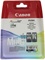 Canon PG-510+CL-511 Multipack Cartouche d'encre d'origine Noir/Jaune/Cyan/Magenta 220 Pages