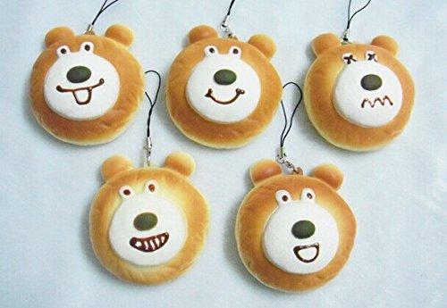 Kawaii Squishy Bear Bun (Includes 1; styles vary) - 1