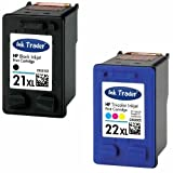 HP 21XL Black & 22XL Tri-Colour (High Capacity) Remanufactured Printer Ink Cartridges For use with HP Deskjet F370 F375 F380 F390 3920 3940 D1360 D1460 D1470 D1560 D1360 D1460 D1470 D1560 D2330 D2360 Printers by Ink Trader