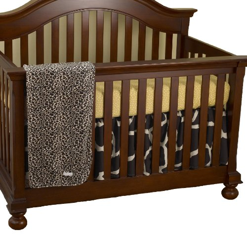 Cotton Tale Designs Sumba Crib Bedding Set, Gold/Ecru/Brown, 3 Piece