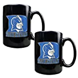 NCAA Duke Blue Devils Two Piece Black Ceramic Mug Set