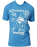 "Blak By Rocawear ""Generation Like"" Men's T-Shirt Vivd Blue rb0015t05-vivbl"