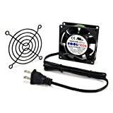 AC Infinity HS8025A-X Standard Cooling Fan, 115V AC 80mm by 80mm by 25mm High Speed