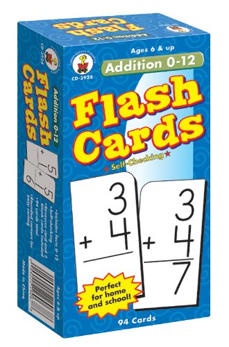 Addition 0-12 Flash Cards, Grades 1 - 3 - 1