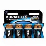 Duracell Ultra Power MX1300 Battery Alkaline 1.5V D Ref 81235530 [Pack 4]