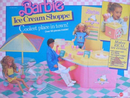 Barbie Ice Cream Shoppe 50+ Piece Playset W Ice Cream Cart & More! (1987 Mattel Hawthorne) front-966495