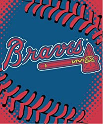 MLB Atlanta Braves Plush Raschel Blanket (60 x 80-Inch)